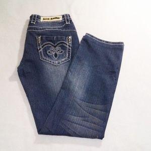 ROCK REVIVAL 'John' Straight Distressed Jeans